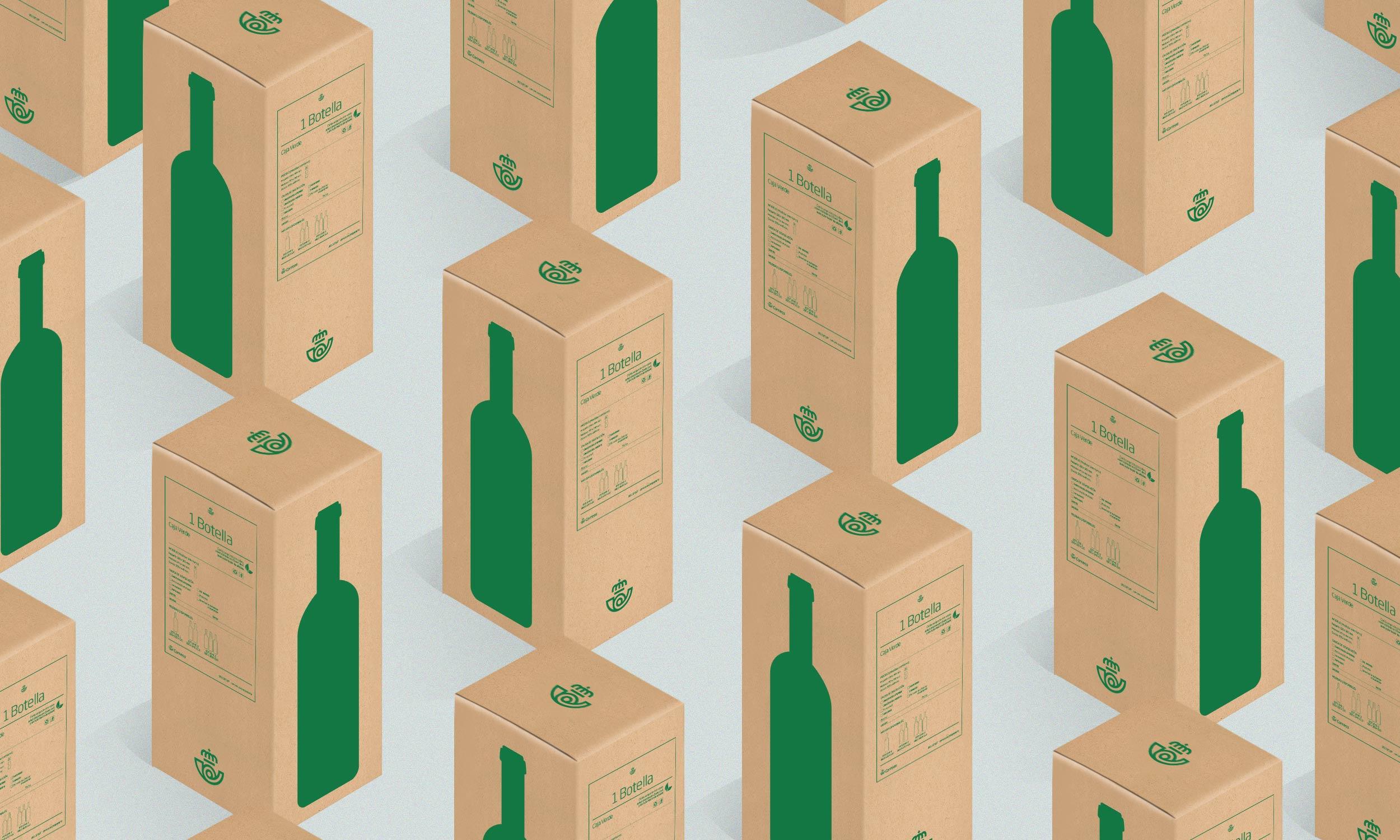 cajas para botellas con etiqueta sostenible