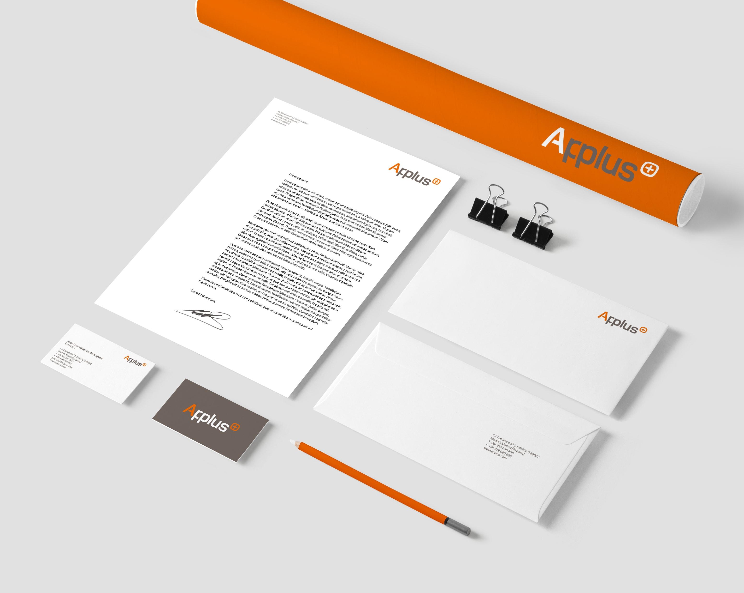 diseño applus papeleria
