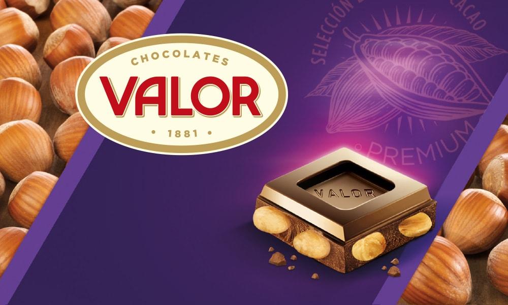 Valor chocolate con avellanas lila