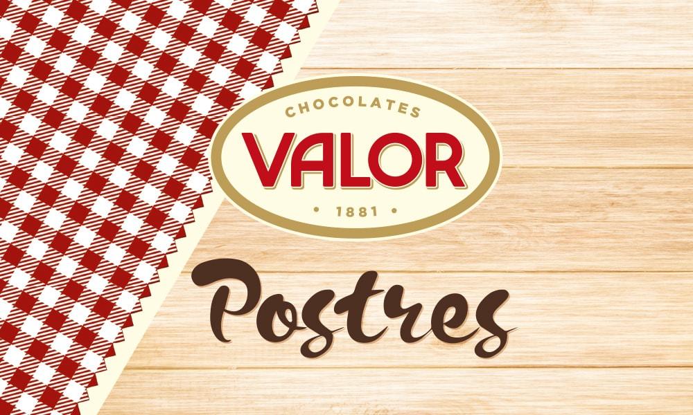 Valor chocolate postres