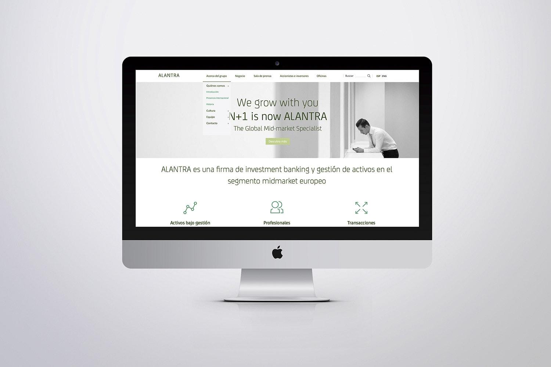 Diseño Web Alantra