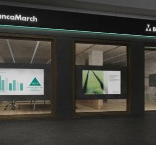Rebranding oficinas Banca March